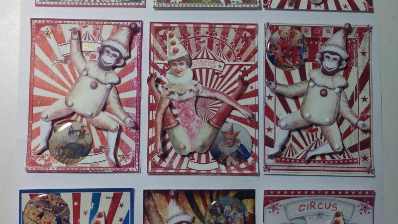 Intercambio ATCs: Circus Vintage