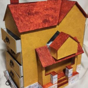 Costurero con forma de casita [Reto @Creativas.Unidas Enero'21]